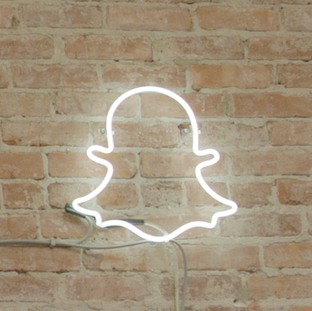 Ghost Wall at the Snapchat HQ photo: PR Snapchat